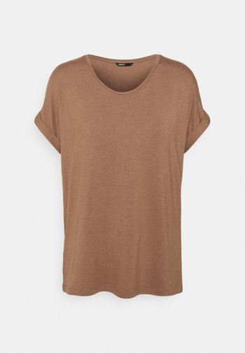 ONLMOSTER ONECK - Basic T-shirt - brownie