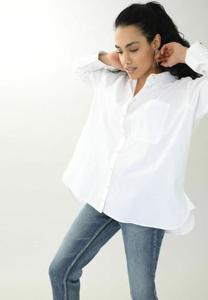Button-down blouse - weiß