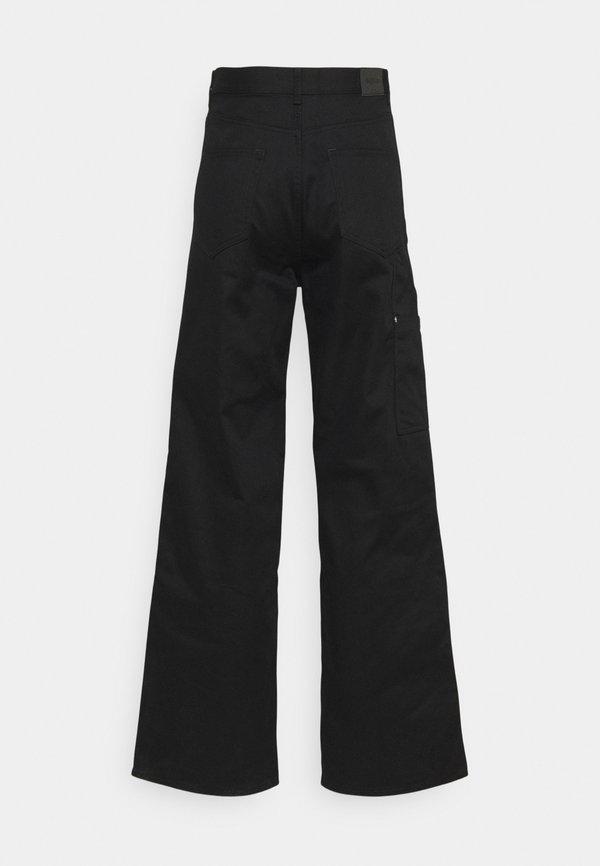 Weekday UNISEX HORACE CARPENTER TROUSERS - Spodnie materiałowe - black/czarny Odzież Męska MPNL