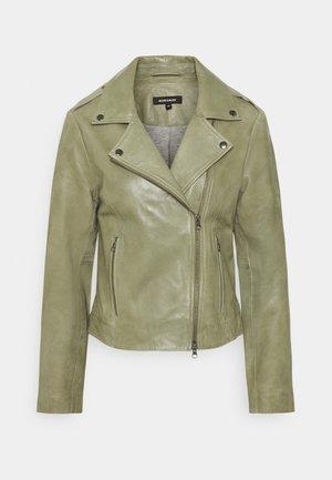 TWO TONE BIKER - Leather jacket - smaragd