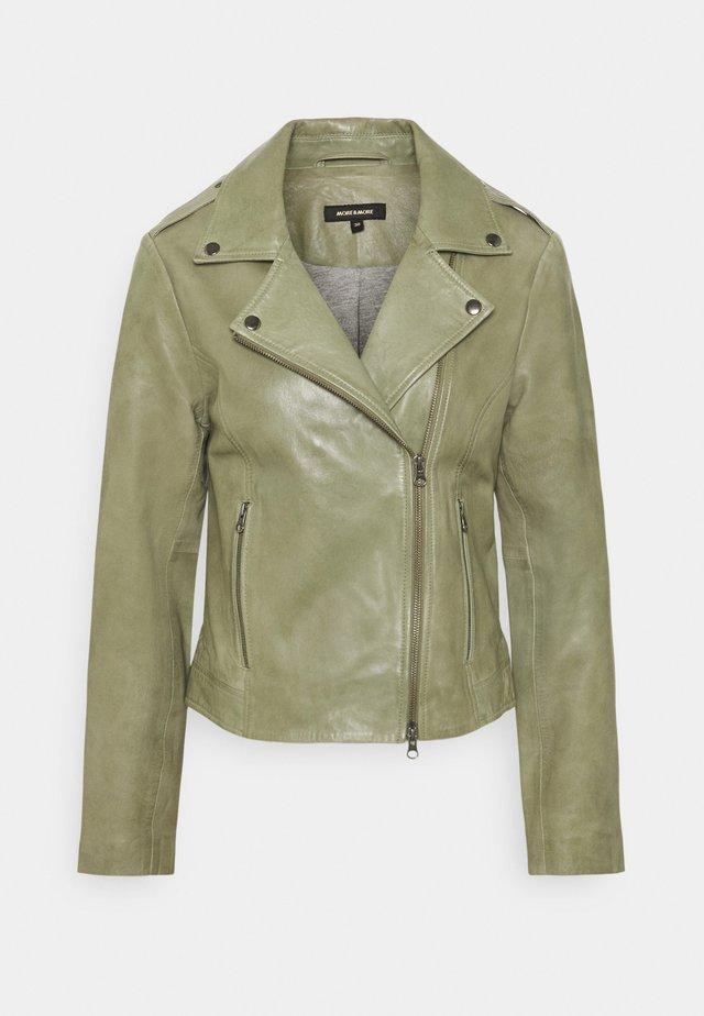 TWO TONE BIKER - Kožená bunda - smaragd