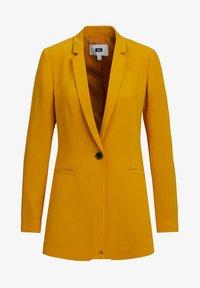 WE Fashion - MET STRUCTUUR - Blazere - ochre yellow - 5