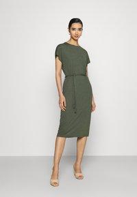 JDY - JDYURBAN GABRIELLA BELT DRESS - Jersey dress - kalamata - 1