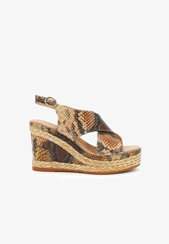 NAYLA - High heeled sandals - sand