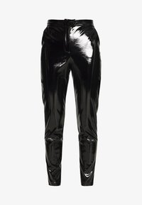 NA-KD - PATENT PANTS - Trousers - black - 3