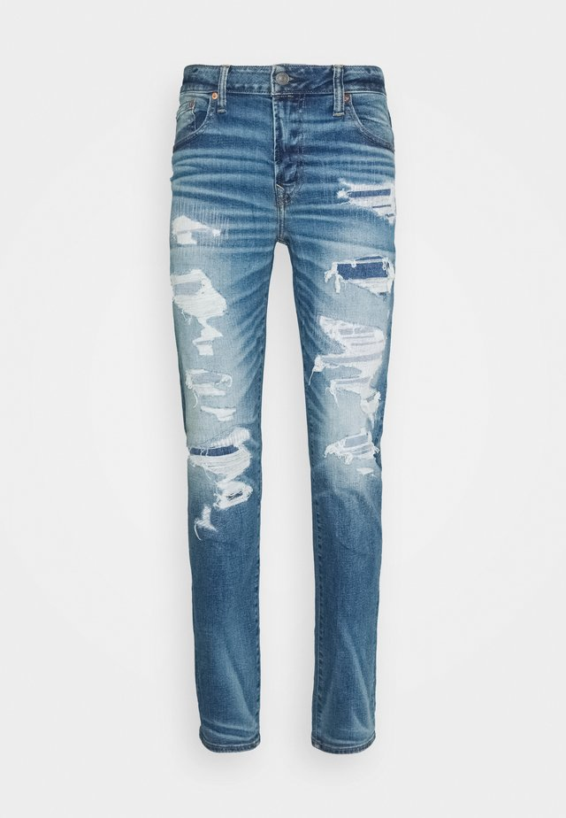 MEDIUM MENDED SKINNY - Slim fit jeans - medium destroy