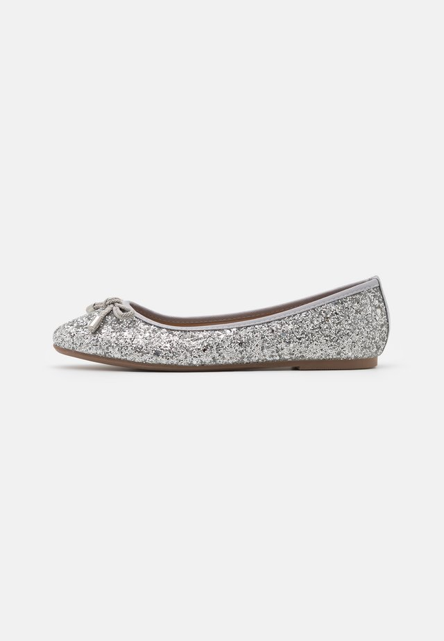 Bailarinas - glitter silver