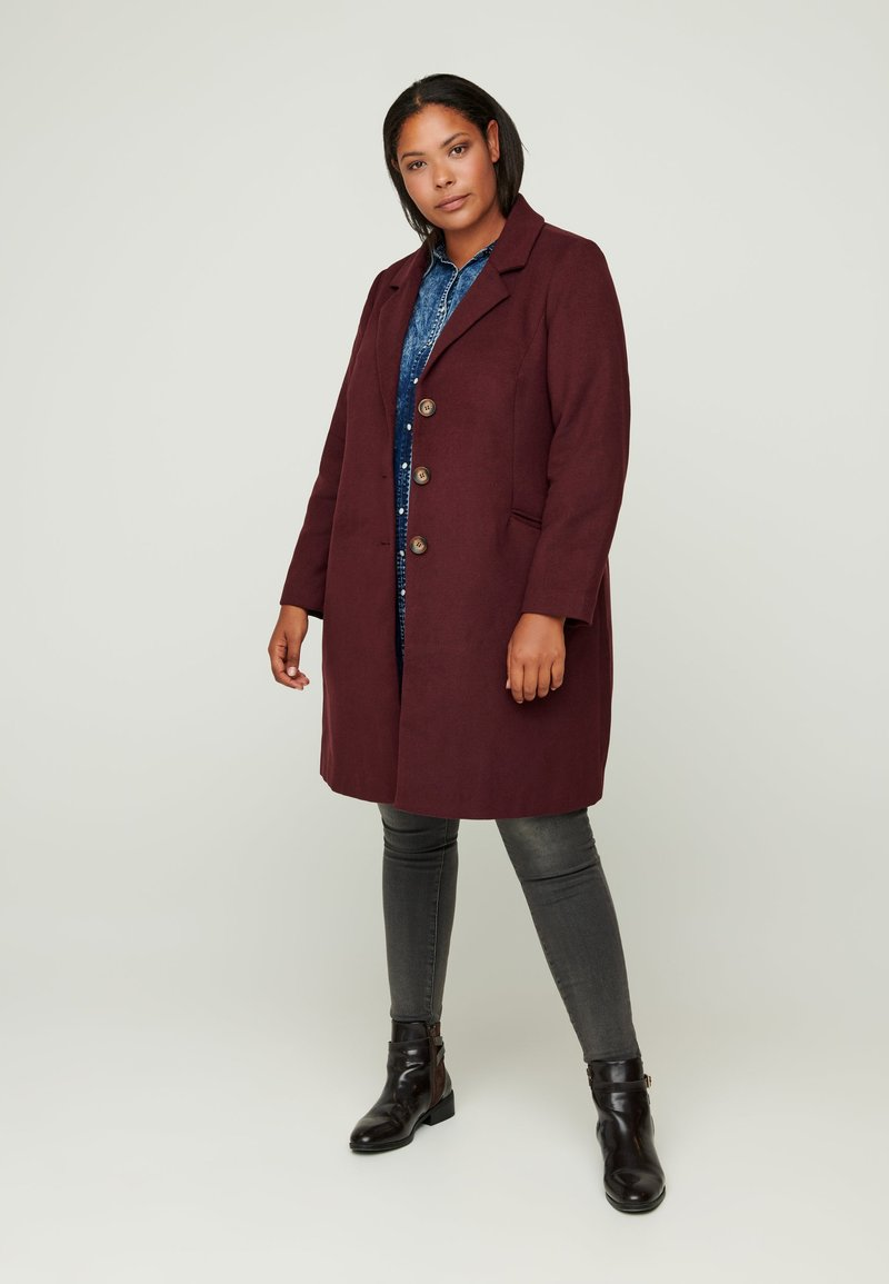 Zizzi - Classic coat - red