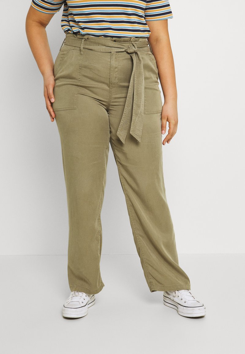 CAPSULE by Simply Be - WIDE LEG PANT - Trousers - khaki