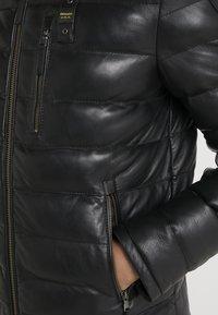 Blauer - Leather jacket - black - 5