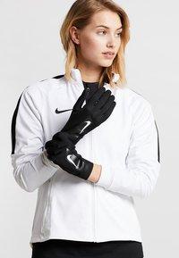 Nike Performance - ACADEMY HYPERWARM - Gloves - black/white/white - 1