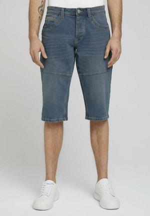 MORRIS  - Szorty jeansowe - mid stone blue grey denim