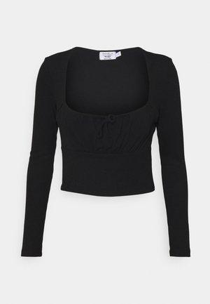 PAMELA REIF RUCHED FRONT TIE - Langarmshirt - black