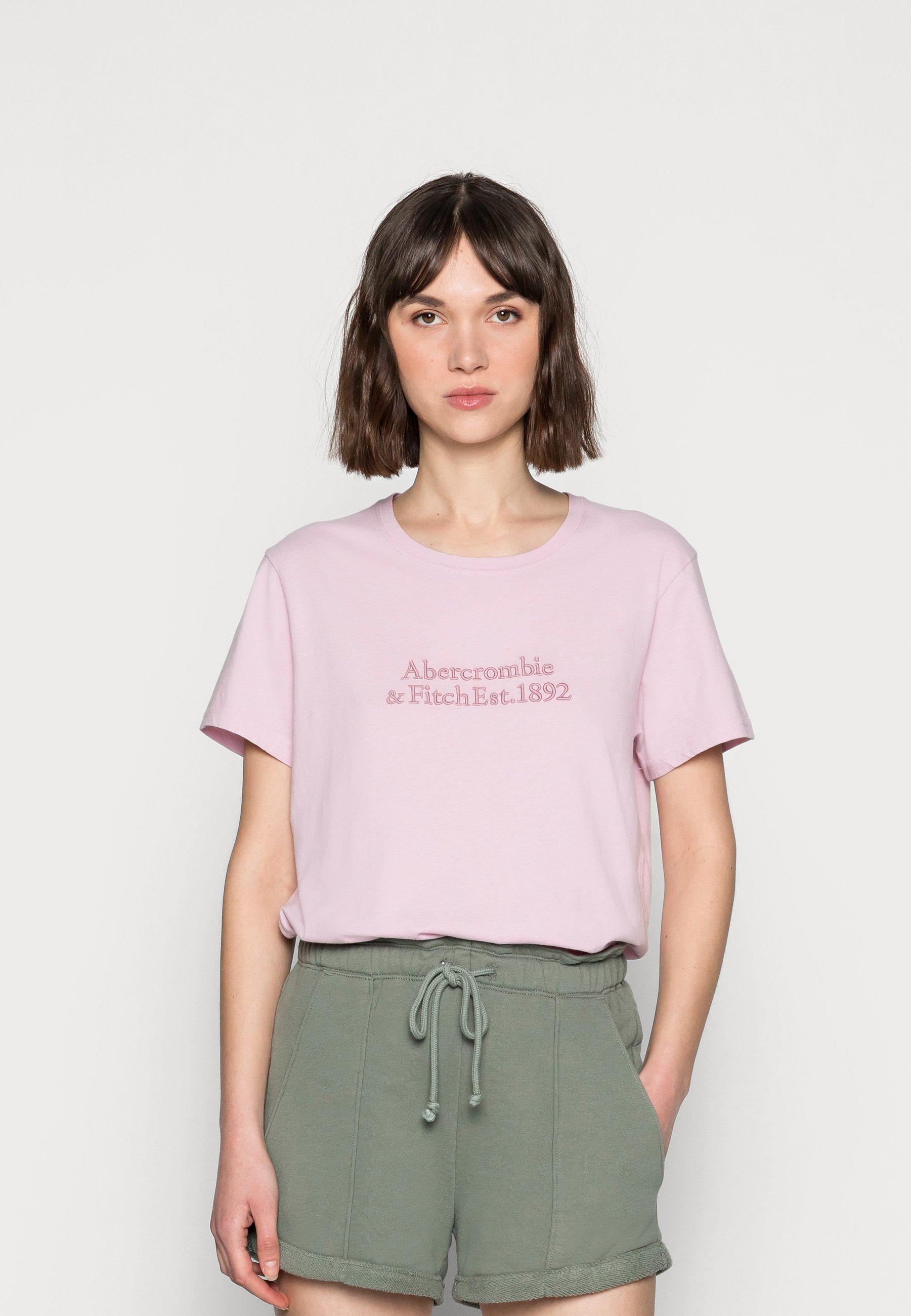 Women RELAXED EMBROIDERED LOGO TEE - Print T-shirt