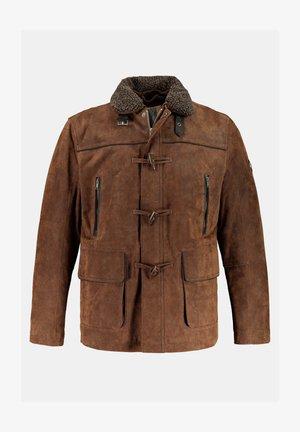 Leather jacket - marron
