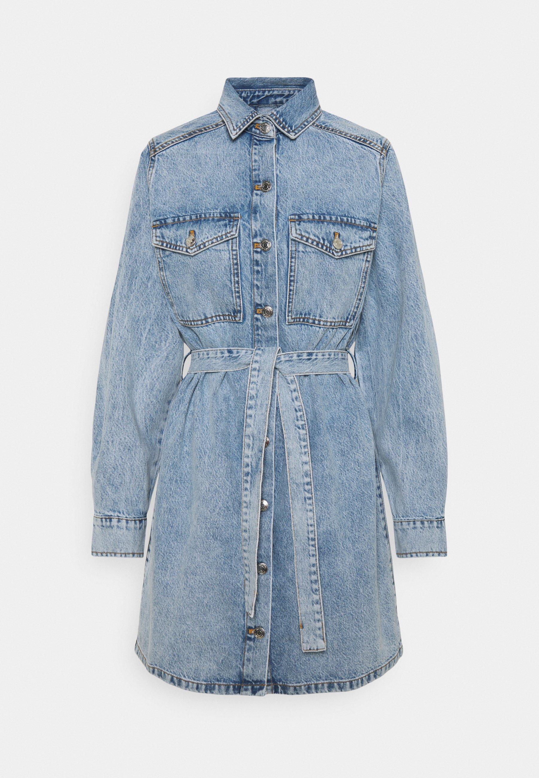 Femme LONG SLEEVE DRESS - Robe en jean