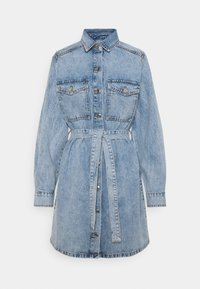 Gina Tricot - LONG SLEEVE DRESS - Denim dress - blue - 0