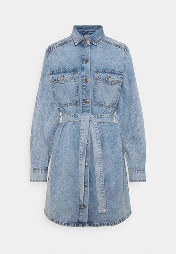 LONG SLEEVE DRESS - Denim dress - blue