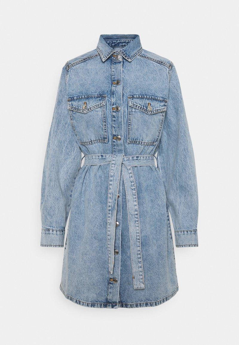 Gina Tricot - LONG SLEEVE DRESS - Denim dress - blue