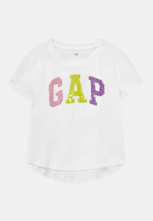 GIRL LOGO - Camiseta estampada - new off white