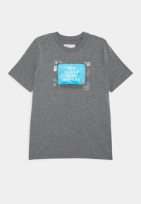 Abercrombie & Fitch - INTERACTIVE - Print T-shirt - grey - 0