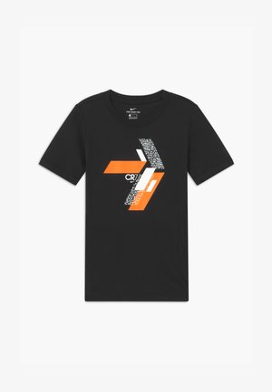 CR7 TEE HOOK - T-shirt z nadrukiem - black