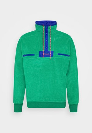 POWDER - Fleece trui - emerald green/lapis blue