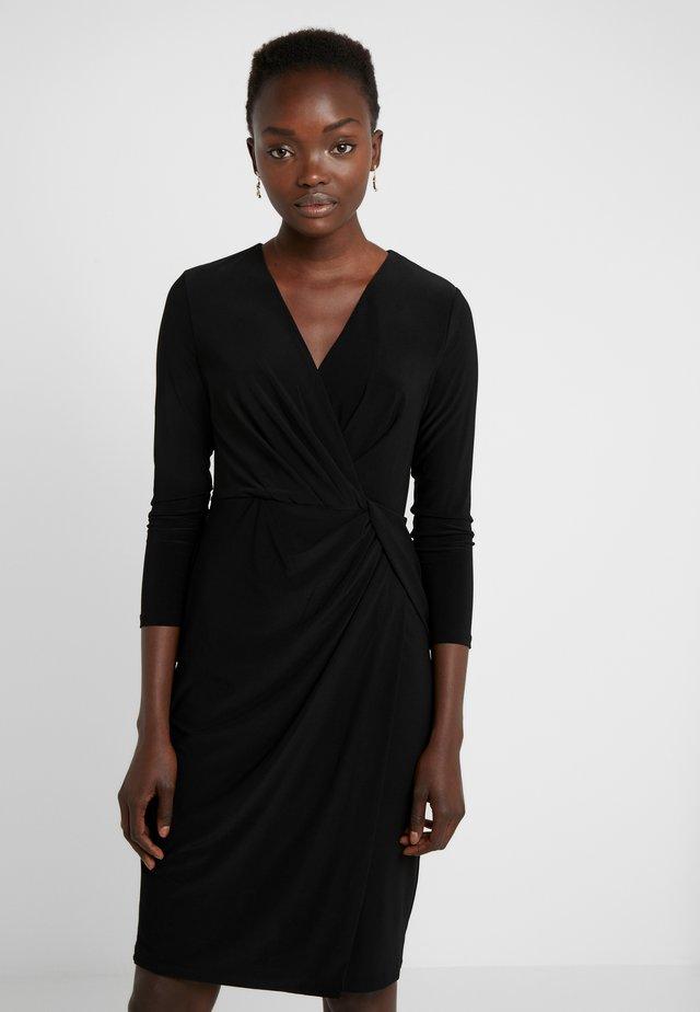 NECK SIDE TWIST SHEATH - Shift dress - black
