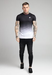 SIKSILK - FADE TEE - T-shirt med print - black/white - 1