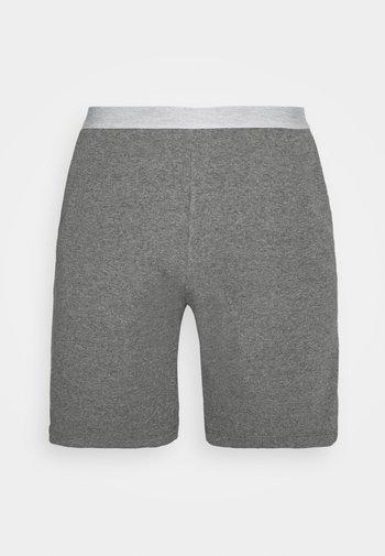 LOUNGE HENLEY SHORTS - Pyžamový spodní díl - mottled dark grey