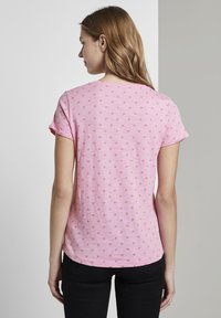TOM TAILOR DENIM - SLUB  - Print T-shirt - pink - 2