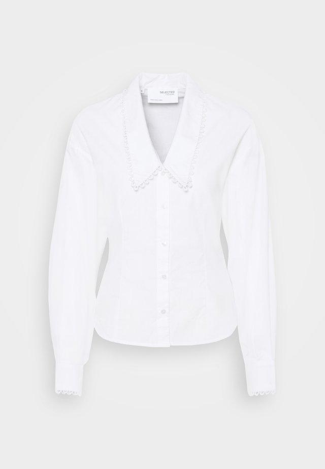 SLFROMANCE SHIRT - Camicia - bright white
