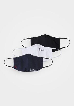 MASK 3 PACK - Stoffmaske - white/black/navy