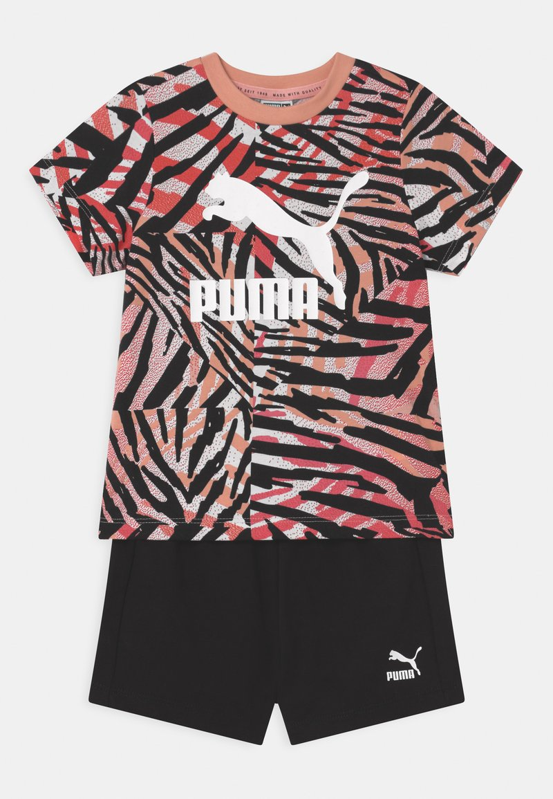 Puma - MINICATS CLASSICS SET UNISEX - Print T-shirt - apricot blush/neon safari