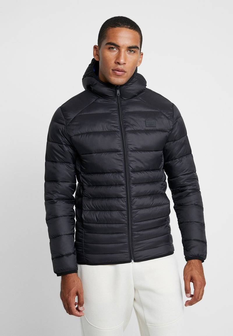 Jack & Jones - JJEBOMB PUFFER HOOD - Winter jacket - black