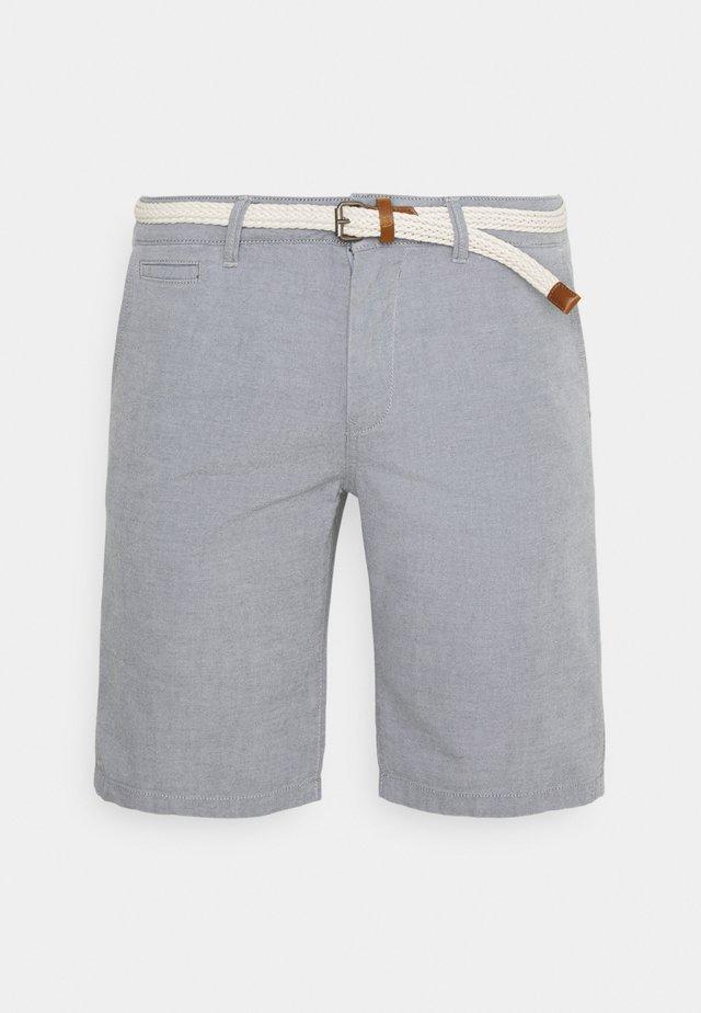 WITH BELT - Shorts - medium grey