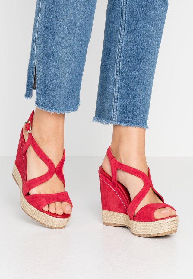 TELMA - High heeled sandals - red