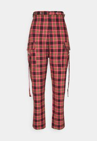 The Ragged Priest - CHECK PANTS WITH EYELET STRAPS AND BUCKLES - Trousers - red/multi - 3