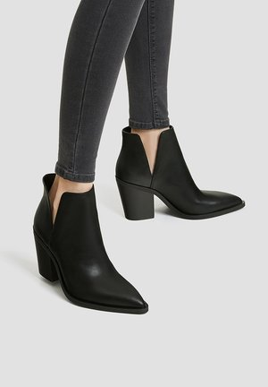MIT CUT-OUTS - Bottines à talons hauts - black