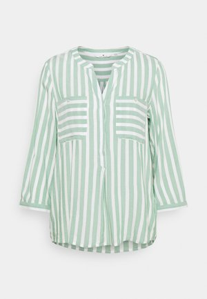 Blouse - green/offwhite