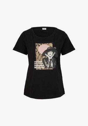 MIT FRONTPRINT - T-shirt print - black