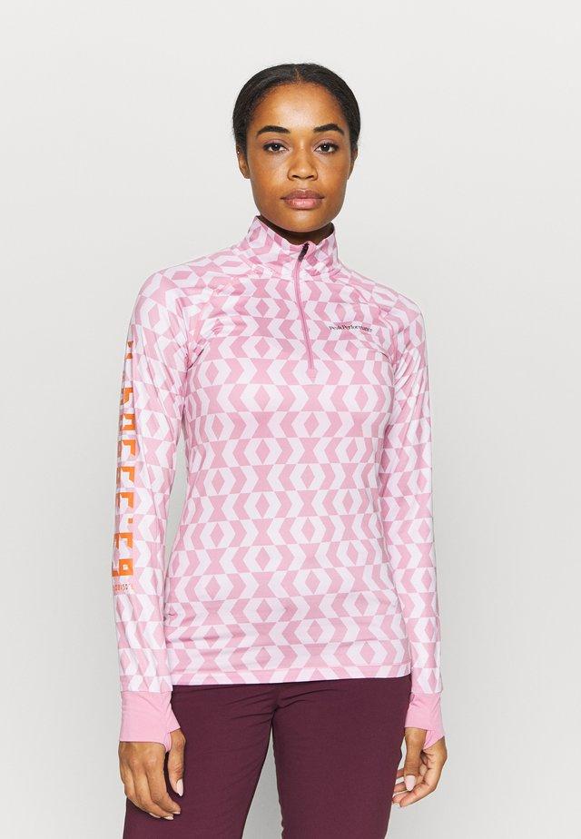 SPIRIT HALF ZIP - Long sleeved top - rose