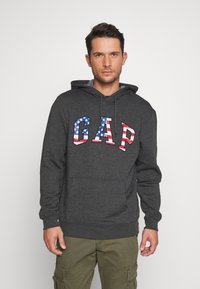 GAP - ARCH FLAG - Hoodie - charcoal heather - 0