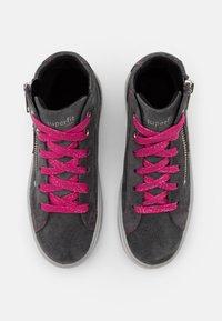 Superfit - HEAVEN - Sneakersy wysokie - grau/rosa - 3