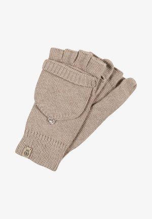 Fingerless gloves - beige