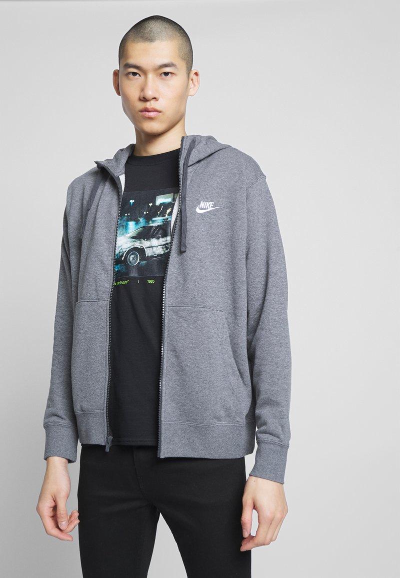 Nike Sportswear - M NSW FZ FT - Zip-up sweatshirt - charcoal heather/anthracite/white