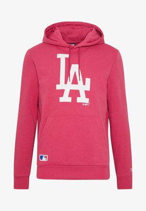 MLB SEASONAL TEAM LOGO HOODY LOS ANGELES DODGERS - Mikina s kapucí - light pink