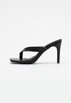 MID HEEL - Sandály na vysokém podpatku - black