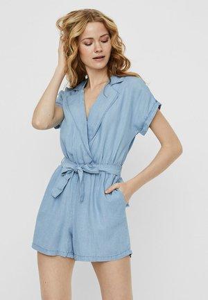 NMNATHALIE S/S ENDI BELT PLAYSUIT B - Jumpsuit - light blue