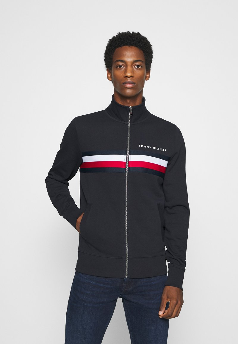 Tommy Hilfiger - LOGO ZIP THROUGH - Zip-up hoodie - blue